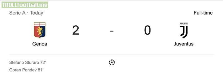 Atletico crying... Genoa: Who beat you? Atletico: Juventus Genoa: Hold my spaghetti