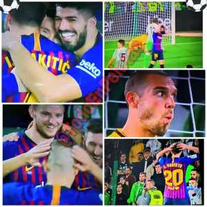 Betis and Barca's players reactions after Messi's third goal against Real Betis