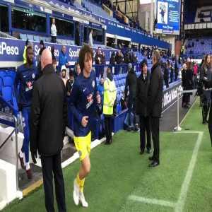 Hazard mocking the Everton fans booing Barkley