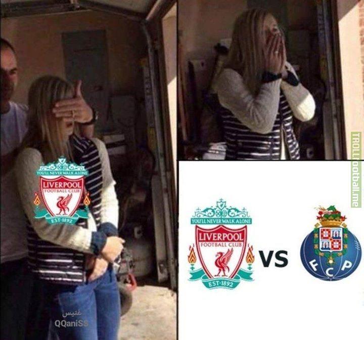 Liverpool getting that dream draw like 😂