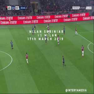 Milan Škriniar individual highlights in the Derby della Madonnina