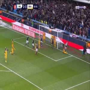 Millwall 1-0 Brighton - Alex Pearce 70'