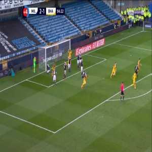Millwall 2-[2] Brighton - Solomon March free-kick 90'+5'