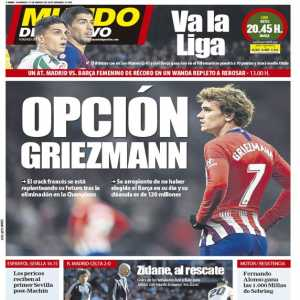 [Mundo Deportivo] Griezmann is second guessing his decision to stay at Atletico over Barca