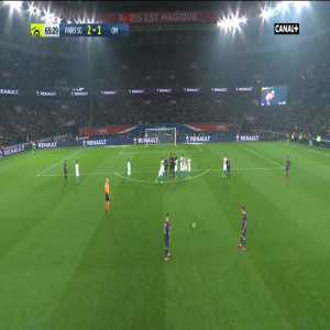 Paris Saint-Germain [3]-1 Olympique de Marseille - A. Di Maria 66' - Freekick