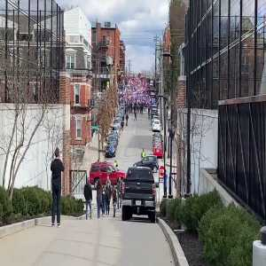 Supporters Marching into FC Cincinnati's Inaugural Match