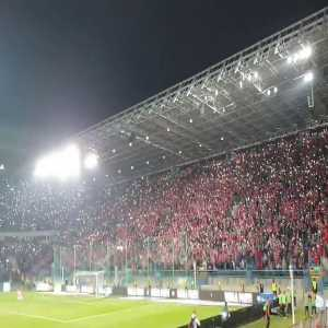 """Wisła Kraków's fans singing """"It's time to say goodbye"""" after winning in Holy War."""