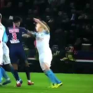 Kimpembe and Ocampos conflict in PSG vs Marseille game