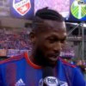 """""""My son told me 'if you score you have to do this' and so I said OK"""" Kendall Waston goal celebration"""