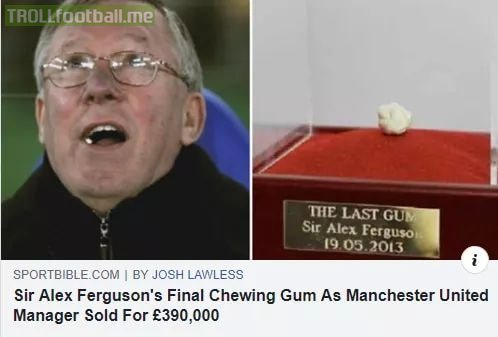 If you have some junk at your place, sell it to a Manchester United fan..they buy anything and everything!😂😂