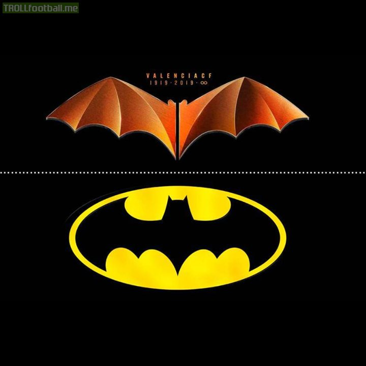 "DC Comics are suing Valencia for their 100 year anniversary crest.  Valencia's response: ""When this team was already playing with a bat on their chest, people in the United States were still chasing buffalo.""  😂 🔥"