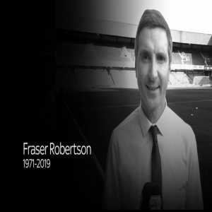 Former Sky Sports reporter Fraser Robertson has passed away aged 47 from natural causes. RIP.