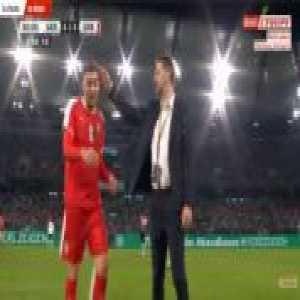 Milan Pavkov (Serbia) straight red card against Germany 90'+3'