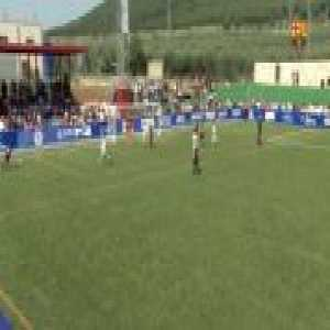 Barcelona's U10 soccer team scores some of the craziest goals you'll ever see.