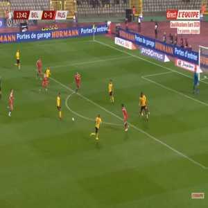 Belgium 1-0 Russia - Youri Tielemans 14'