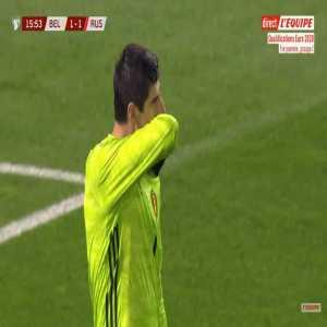 Belgium 1-[1] Russia - Denis Cheryshev 16'