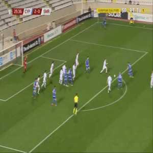 Cyprus 3-0 San Marino - Ioannis Kousoulos 26'