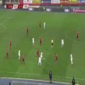 Lewandowski's no-look pass (Austria-Poland)