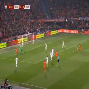 Netherlands 1-0 Belarus - Memphis Depay 1'