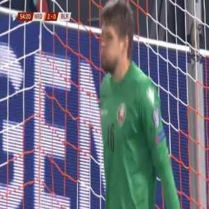 Netherlands 3-0 Belarus - Memphis Depay penalty 55'