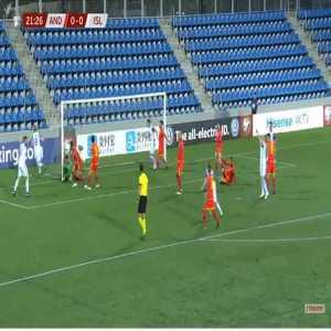 Andorra 0-1 Iceland - Birkir Bjarnason 22'