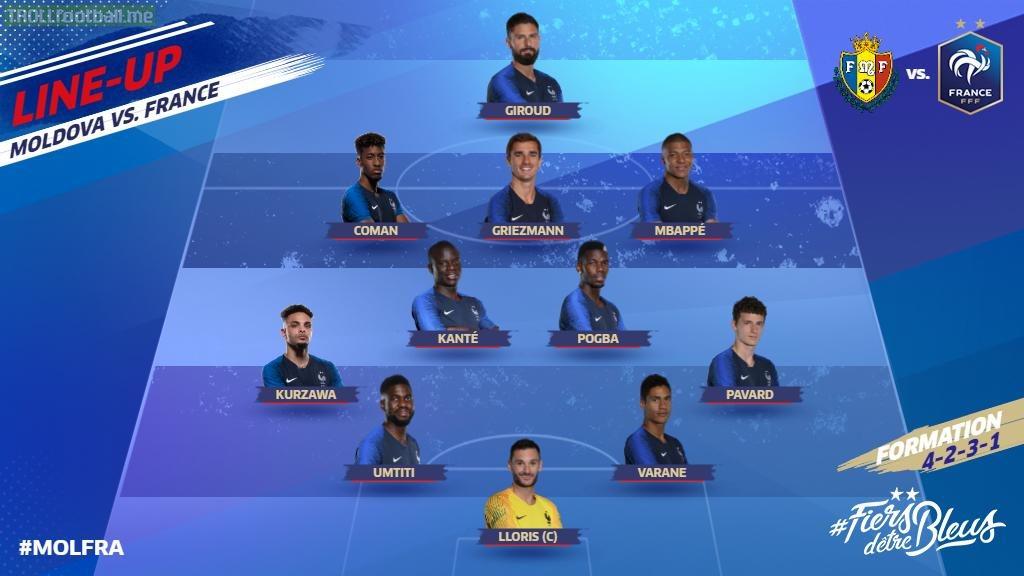 France XI v Moldova