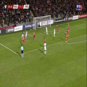Moldova 0-3 France - Olivier Giroud 36'