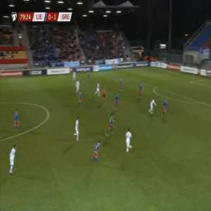 Liechtenstein 0-2 Greece - Anastasios Donis 80'