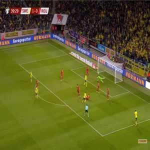 Sweden 2-0 Romania - Viktor Claesson 40'