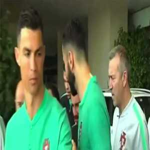 """A fan asked Cristiano Ronaldo to sign his Real Madrid shirt yesterday. He joked back: """"Don't you have a Juventus shirt?"""""""