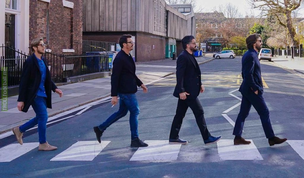 Andrea Pirlo, Gennaro Gattuso, Massimo Oddo and Massimo Ambrosini recreate iconic Beatles image in Liverpool