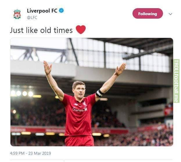 Gerrard spices it up just like old times!! Missing him!! YNWA