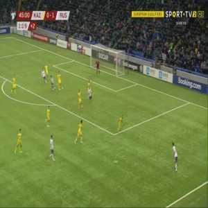 Kazakhstan 0-2 Russia - Denis Cheryshev 45' +2'