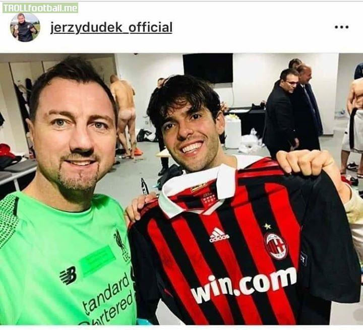 Ricardo 'Kaka' with an AC Milan shirt igniting memories of his prime!!!