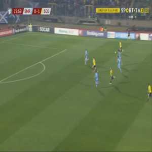 San Marino 0-2 Scotland - Johnny Russell 74'