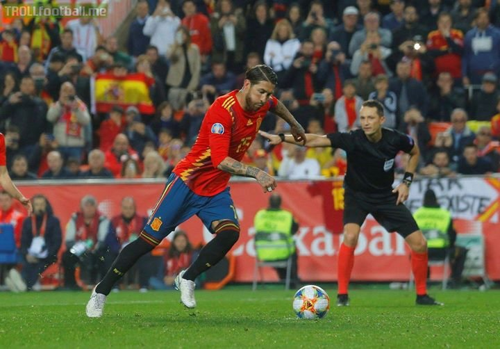 Sergio Ramos has now scored 107 career goals. As a centerback 😮