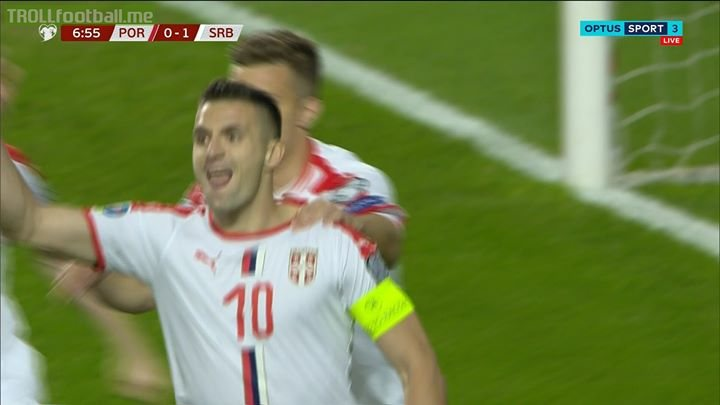 7' GOOOOOAAAAAALLLL!  Serbia take the lead against Portugal.  Dusan Tadic from the spot.  Portugal 0-1 Serbia