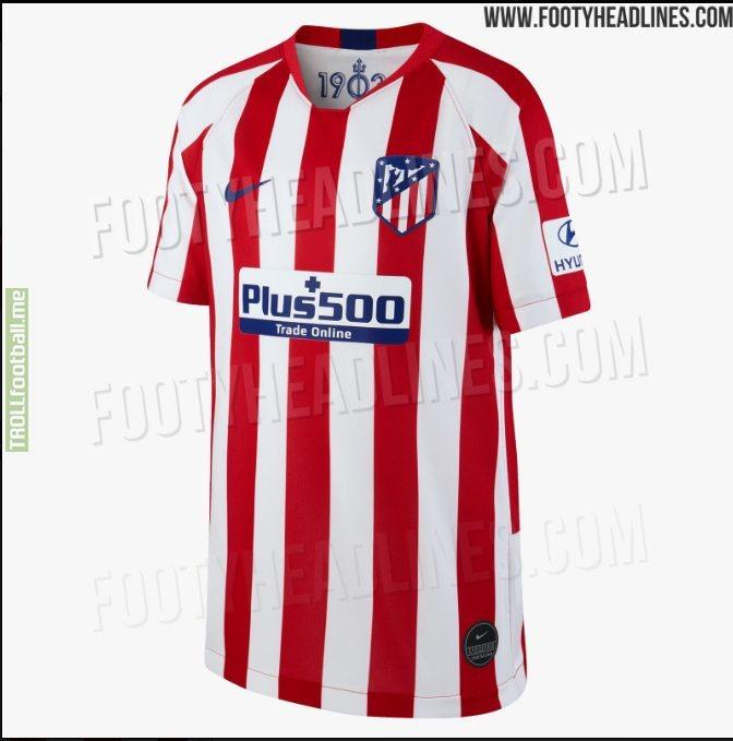 Atlético Madrid's nice-looking home kit for 2019-20 season leaked