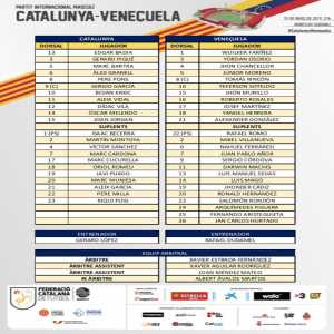 Catalonia is playing a friendly with Venezuela this night. This are the lineups!