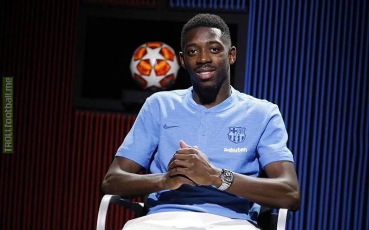 Dembele:- I dream to win three consecutive champions league like Messi!!  Reporter:-Did Messi won it?   Dembele:- No he dreamed too  😂😂😂🤣🤣