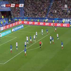 France 2-0 Iceland - Olivier Giroud 68'