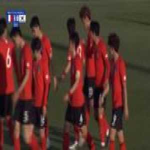 France U20 1-[1] South Korea U20 - Woo-Yeong Jeong free-kick 29'