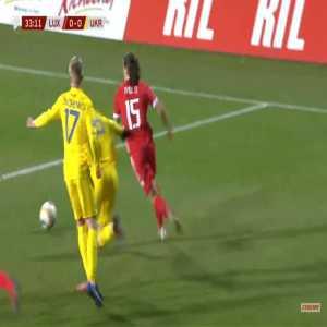 Luxembourg 1-0 Ukraine - David Turpel 34'