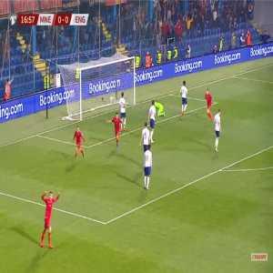 Montenegro 1-0 England - Marko Vesovic 17'