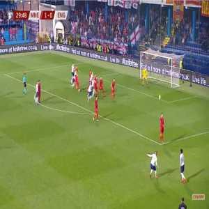 Montenegro 1-[1] England - Michael Keane 30'