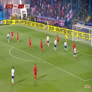 Montenegro 1-[2] England - Ross Barkley 39'