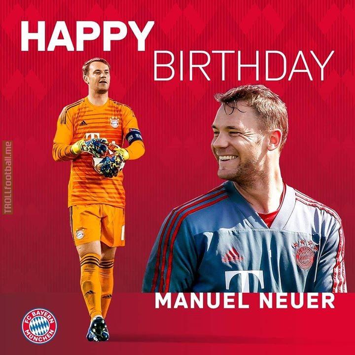 Happy 33rd birthday, Manuel Neuer! 🥳