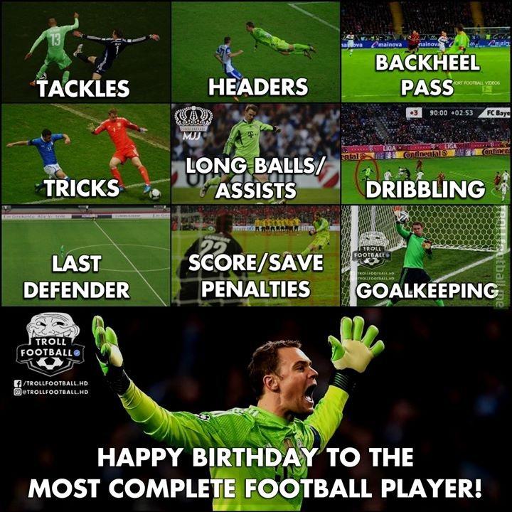Happy 33rd Birthday To 🐐 Manuel Neuer!😂🔥