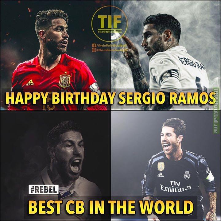Happy Birthday Sergio Ramos 🙌