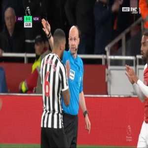 Aaron Ramsey disallowed goal against Newcastle 13'